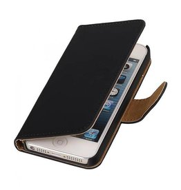 Bookwallet hoes iPhone SE / 5(s) zwart