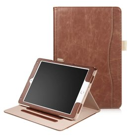 Lunso Luxe stand flip hoes iPad 9.7 (2017/2018) / Air / Air 2 bruin