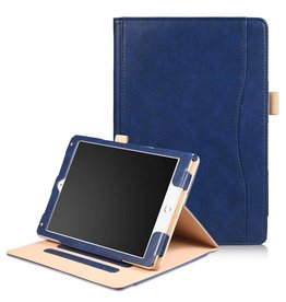 Lunso Luxe stand flip hoes iPad 9.7 (2017/2018) / Air / Air 2 blauw