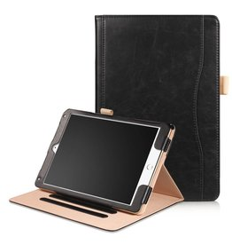 Lunso Luxe stand flip hoes iPad 9.7 (2017/2018) / Air / Air 2 zwart