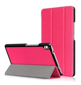 3-Vouw stand flip hoes Lenovo Tab 4 8 Plus roze