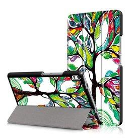 3-Vouw kleurrijke boom stand flip hoes Lenovo Tab 4 8 Plus