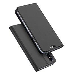 Dux Ducis Dux Ducis pro serie slim wallet hoes iPhone X / XS grijs