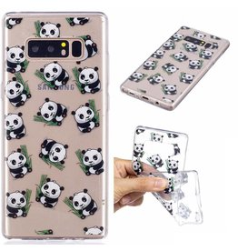 Softcase hoes panda's Samsung Galaxy Note 8