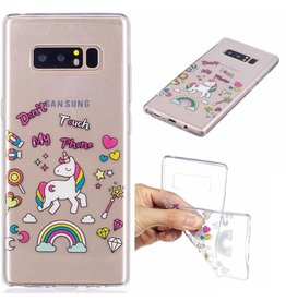 Softcase hoes eenhoorn Samsung Galaxy Note 8