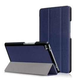 3-Vouw stand flip hoes Lenovo Tab 4 8 blauw
