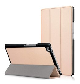 3-Vouw stand flip hoes Lenovo Tab 4 8 goud
