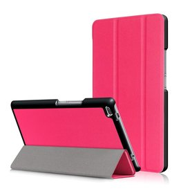 3-Vouw stand flip hoes Lenovo Tab 4 8 roze