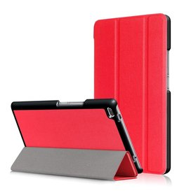 3-Vouw stand flip hoes Lenovo Tab 4 8 rood