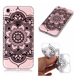 Softcase henna lotus hoes iPhone 7 / 8 / SE (2020)