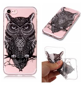 Softcase uil hoes iPhone 7 / 8 / SE (2020)