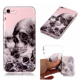 Softcase schedel hoes iPhone 7 / 8 / SE (2020)