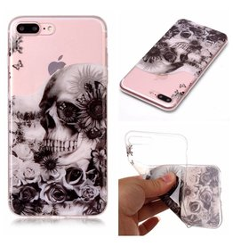 Softcase schedel hoes iPhone 7 Plus / 8 Plus