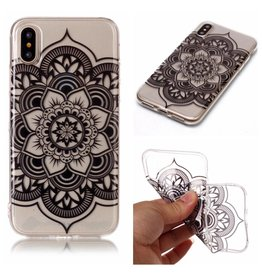 Softcase henna lotus hoes iPhone X / XS