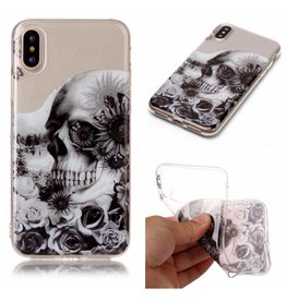 Softcase schedel hoes iPhone X / XS