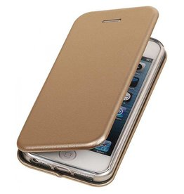 Slim folio wallet hoes iPhone SE / 5(s) goud
