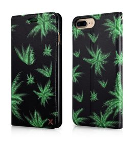 Xoomz bookwallet hoes groene bladeren iPhone 7 Plus / 8 Plus