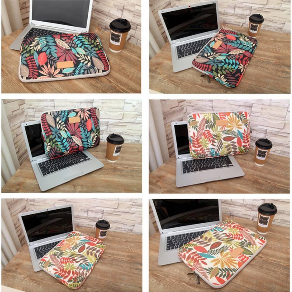 """Lisen kleurrijke bladeren sleeve hoes wit voor 11"""" laptops"""