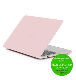 Lunso Matte hardcase hoes - MacBook Pro Retina 15 inch (2016-2018) - lichtroze