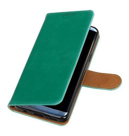 Bookwallet lederlook hoes - Samsung Galaxy S9 - groen
