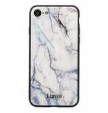 Lunso Lunso backcover hoes marmer zwart voor de iPhone 7 en iPhone 8