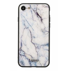 Lunso Lunso - marmeren backcover hoes - iPhone 7 / 8 / SE (2020)- zwart