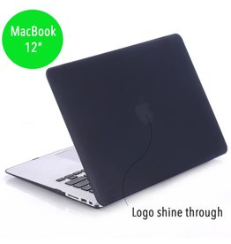 Lunso Lunso - hardcase hoes - MacBook 12 inch - mat zwart