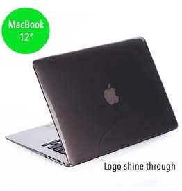 Lunso Lunso - hardcase hoes - MacBook 12 inch - glanzend grijs
