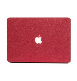 Lunso Lunso - cover hoes - MacBook Air 13 inch (2012-2017) - glitter rood