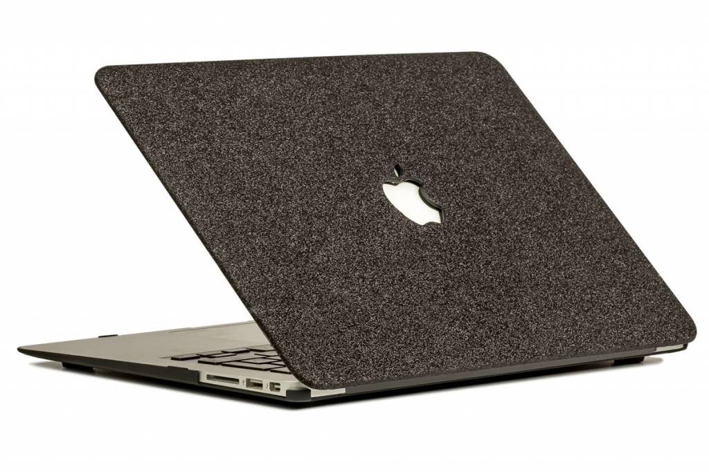 Lunso Lunso cover hoes glitter zwart voor de MacBook Air 13 inch (2010-2017)