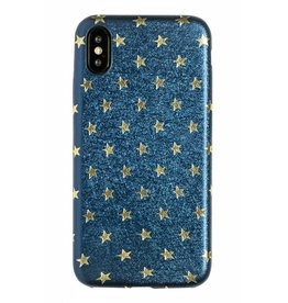 Lunso Lunso - ultra dunne backcover hoes - iPhone X / XS - star blauw