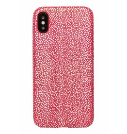 Lunso Lunso - ultra dunne backcover hoes - iPhone X / XS - stingray rood