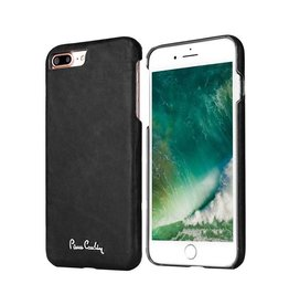 Pierre Cardin Pierre Cardin - echt lederen backcover hoes - iPhone 7 Plus / 8 Plus - zwart