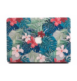 Lunso Lunso - cover hoes - MacBook Pro 15 inch (2016-2020) - Tropical leaves red