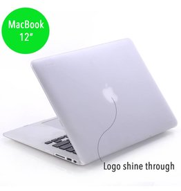 Lunso Lunso - hardcase hoes - MacBook 12 inch - mat transparant