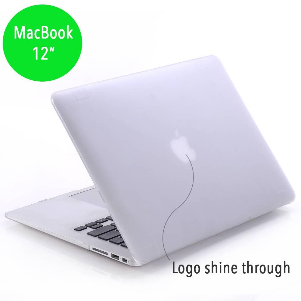 Lunso Lunso matte hardcase hoes transparant voor de MacBook 12 inch