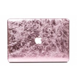 Lunso Lunso - cover hoes - MacBook Air 13 inch (2012-2017) - shiny leer roze