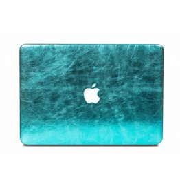 Lunso Lunso - cover hoes - MacBook Air 13 inch (2012-2017) - shiny leer lichtblauw