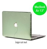 Lunso Lunso hardcase hoes shiny leer groen voor de MacBook Air 13 inch