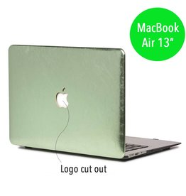 Lunso Lunso - hardcase hoes - MacBook Air 13 inch - shiny leer groen
