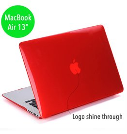 Lunso Lunso glanzende hardcase hoes rood voor de MacBook Air 13 inch (2010-2017)