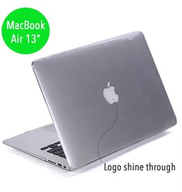 Lunso Lunso glanzende hardcase hoes transparant voor de MacBook Air 13 inch (2010-2017)