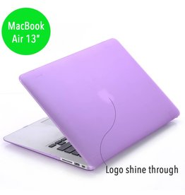 Lunso Lunso - hardcase hoes - MacBook Air 13 inch - mat paars