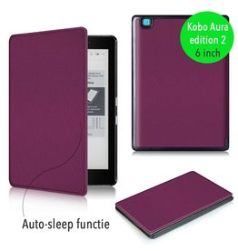 "Lunso Lunso - sleepcover flip hoes - Kobo Aura edition 2 (6"") - paars"