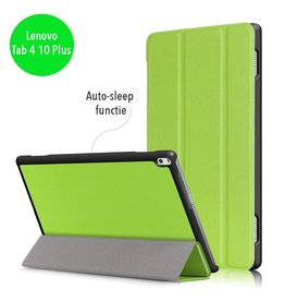 Lunso 3-Vouw sleepcover hoes - Lenovo Tab 4 10 Plus - groen