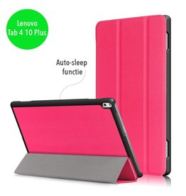 Lunso 3-Vouw sleepcover hoes - Lenovo Tab 4 10 Plus - roze