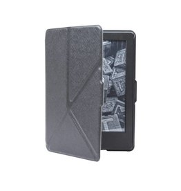 Lunso Lunso - sleepcover origami hoes - Kindle Paperwhite 1 / 2 / 3 - zwart