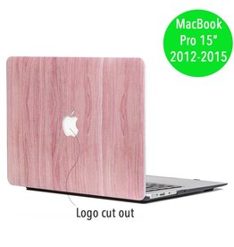 Lunso Lunso - hardcase hoes - MacBook Pro Retina 15 inch (2012-2015) - houtlook roze