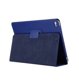 Lunso Stand flip sleepcover hoes - iPad 9.7 (2017/2018) / Pro 9.7 / Air / Air 2 - blauw