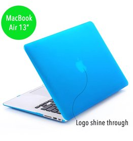 Lunso Lunso - hardcase hoes - MacBook Air 13 inch - mat lichtblauw